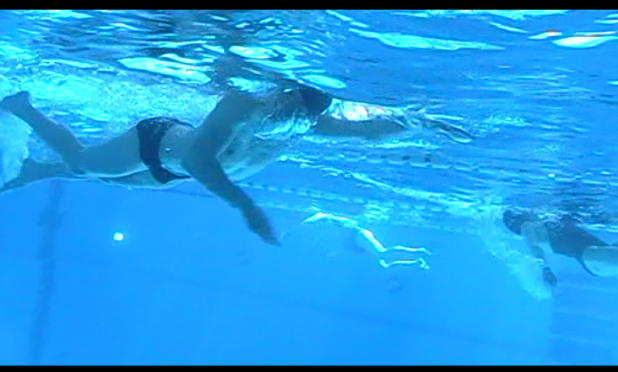 Schwimmtraining mit Ute Mückel